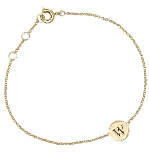 Armband Character Letter W Gold-2