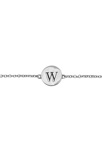 Armband Character Letter W Silver