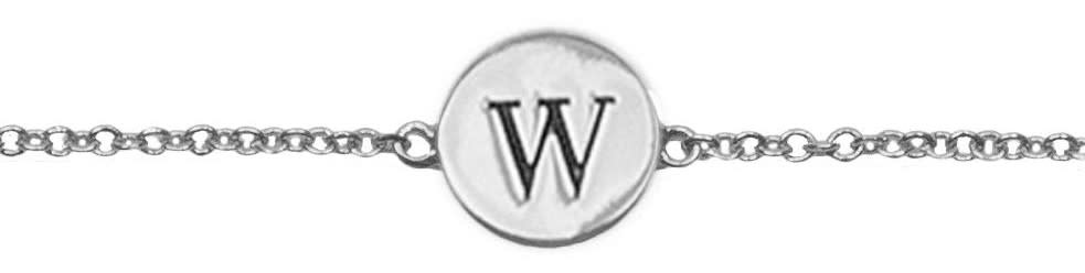 Armband Character Letter W Silver-1