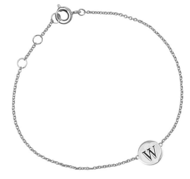 Armband Character Letter W Silver-2
