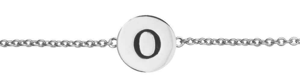 Armband Character Letter O Silver-1