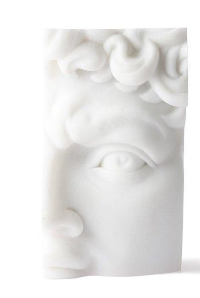 Standaard polystone David 9x7x16cm White