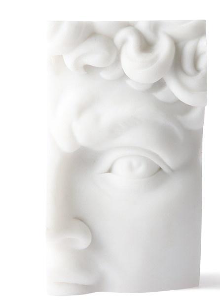 Standaard polystone david brick 9x7x16cm White-1