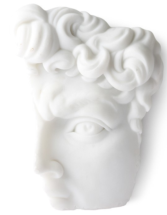 Wanddeco David 14x20cm White-1