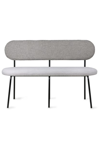 Bank dining table bench 126x54x83cm Grey black