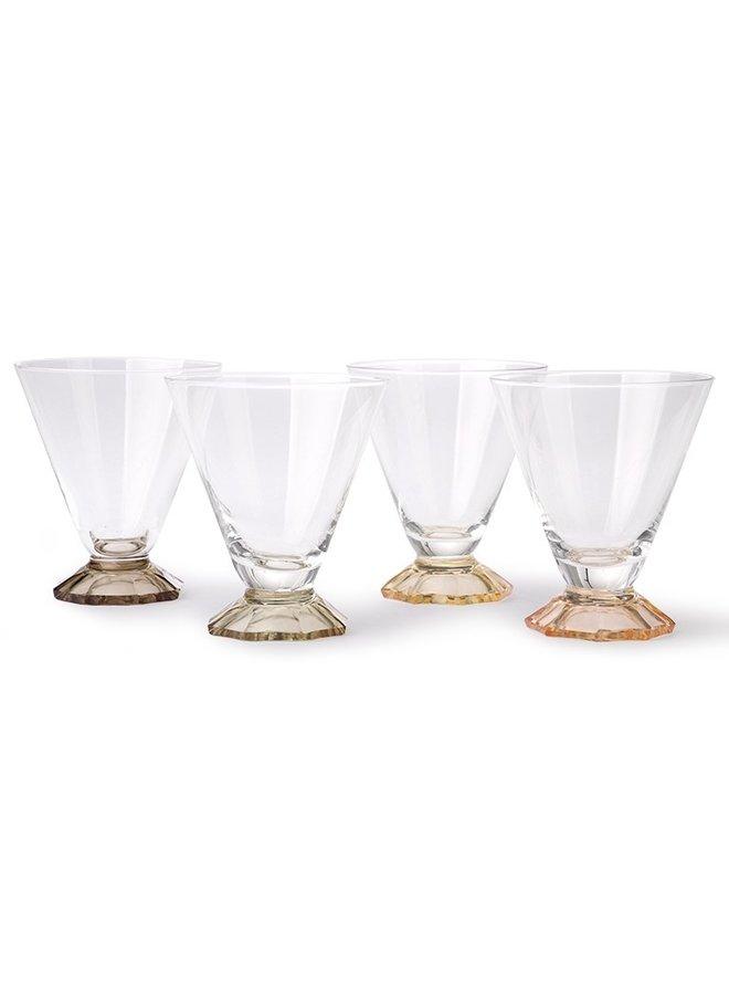 Cocktailglas set 4 coloured cocktail 8,5x10cm Multi
