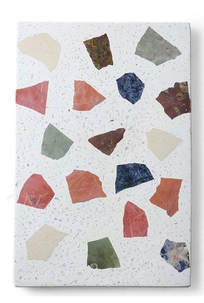 Schaal marble terrazzo board 30x25cm Multi