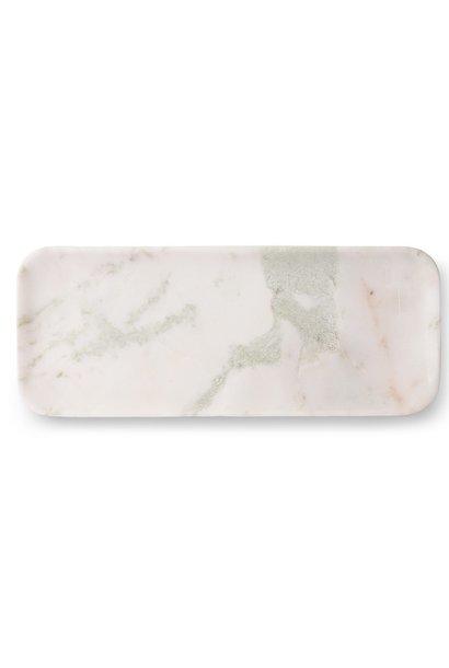 Bord marble 30x12cm White green