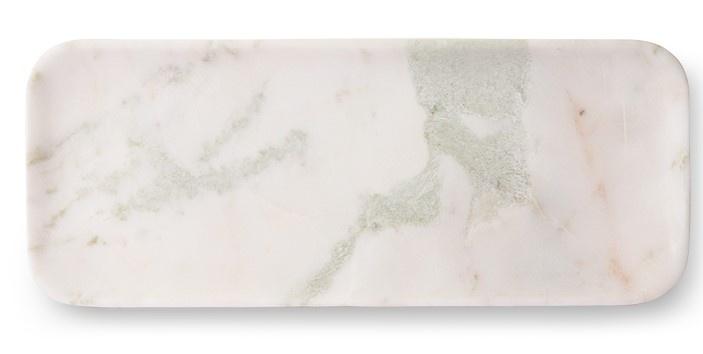 Bord marble 30x12cm White green-1