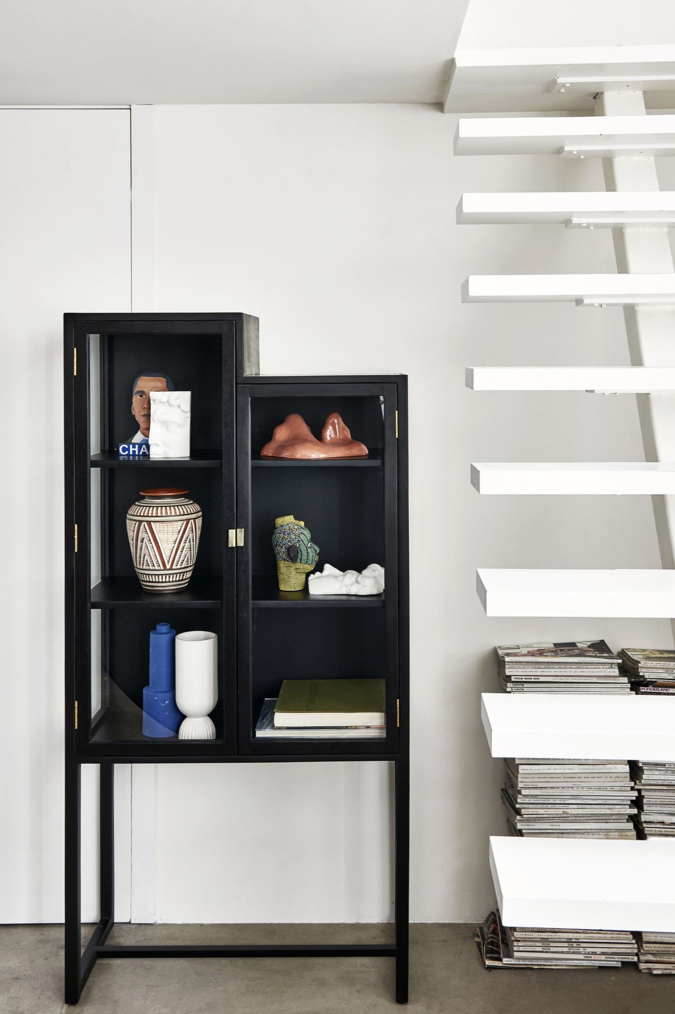 Kast stairs cabinet 80x36x160cm Black-2