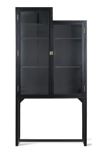 Kast stairs cabinet 80x36x160cm Black