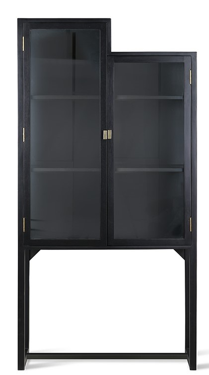 Kast stairs cabinet 80x36x160cm Black-1