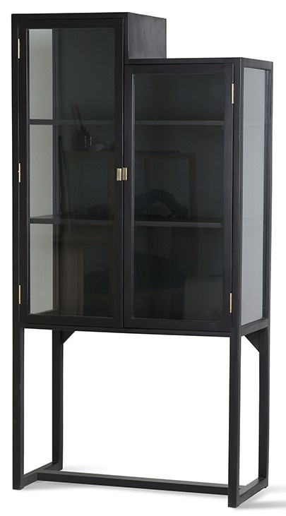 Kast stairs cabinet 80x36x160cm Black-3