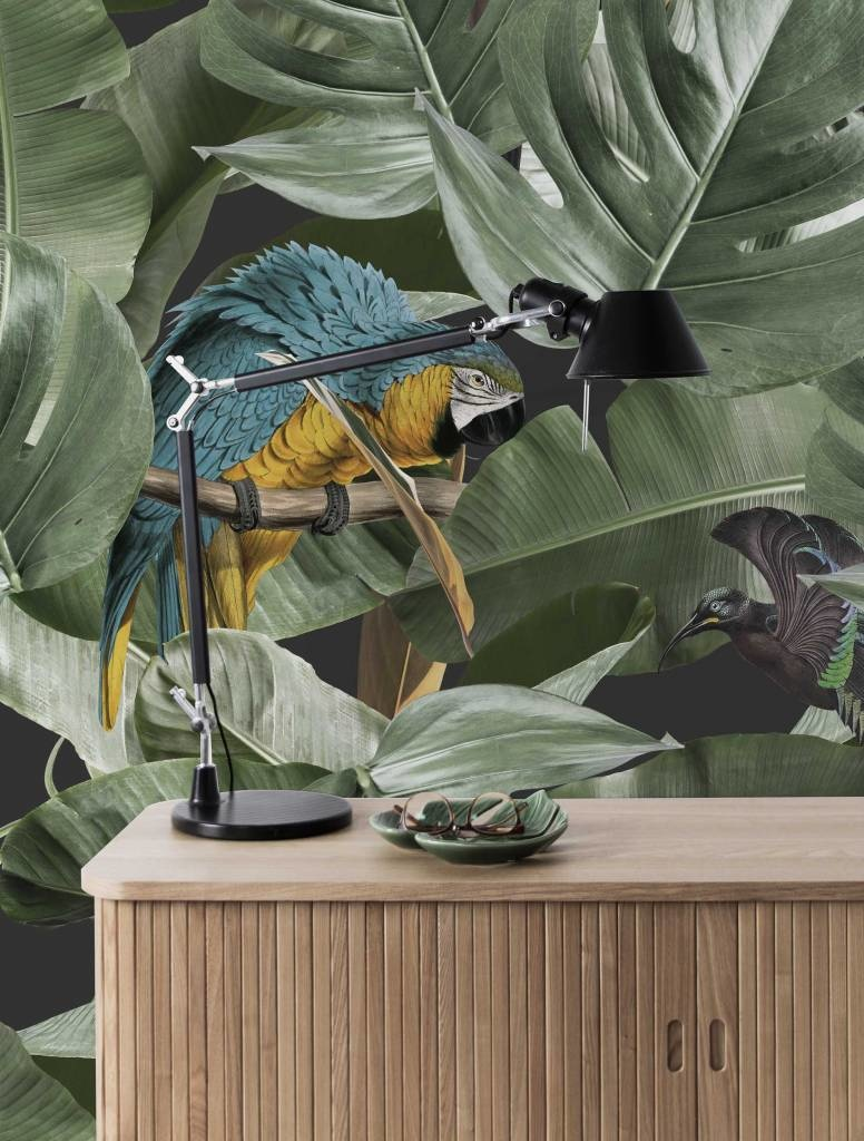 Behang 2 strook Botanical Birds 97.4x280cm-2