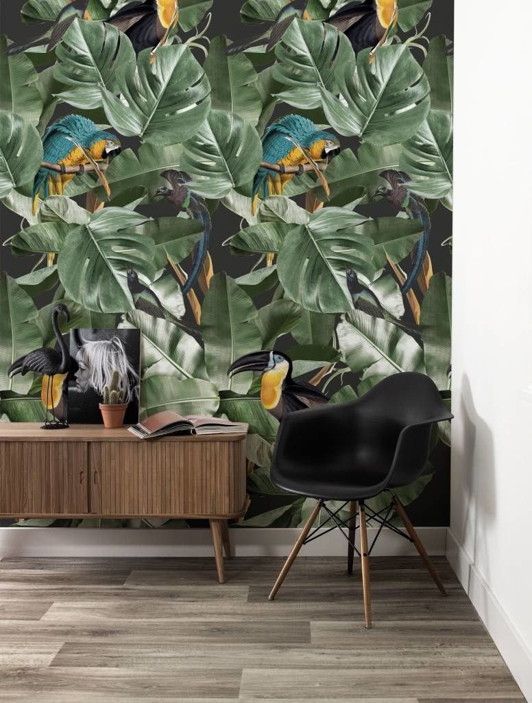 Behang 2 strook Botanical Birds 97.4x280cm-3