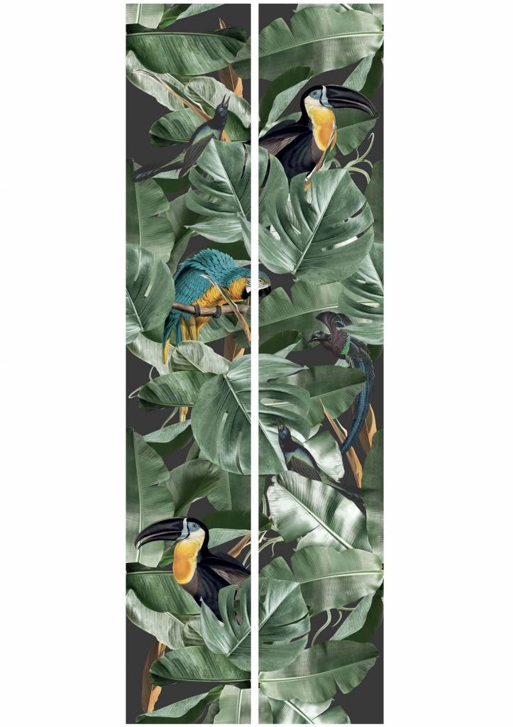 Behang 2 strook Botanical Birds 97.4x280cm-5