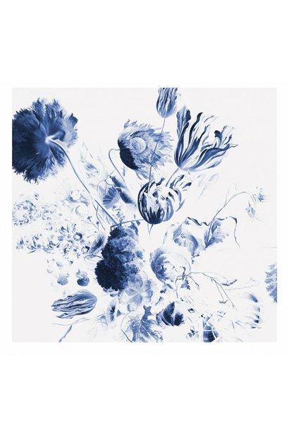 Behang Royal Blue Flowers 292.2x280cm