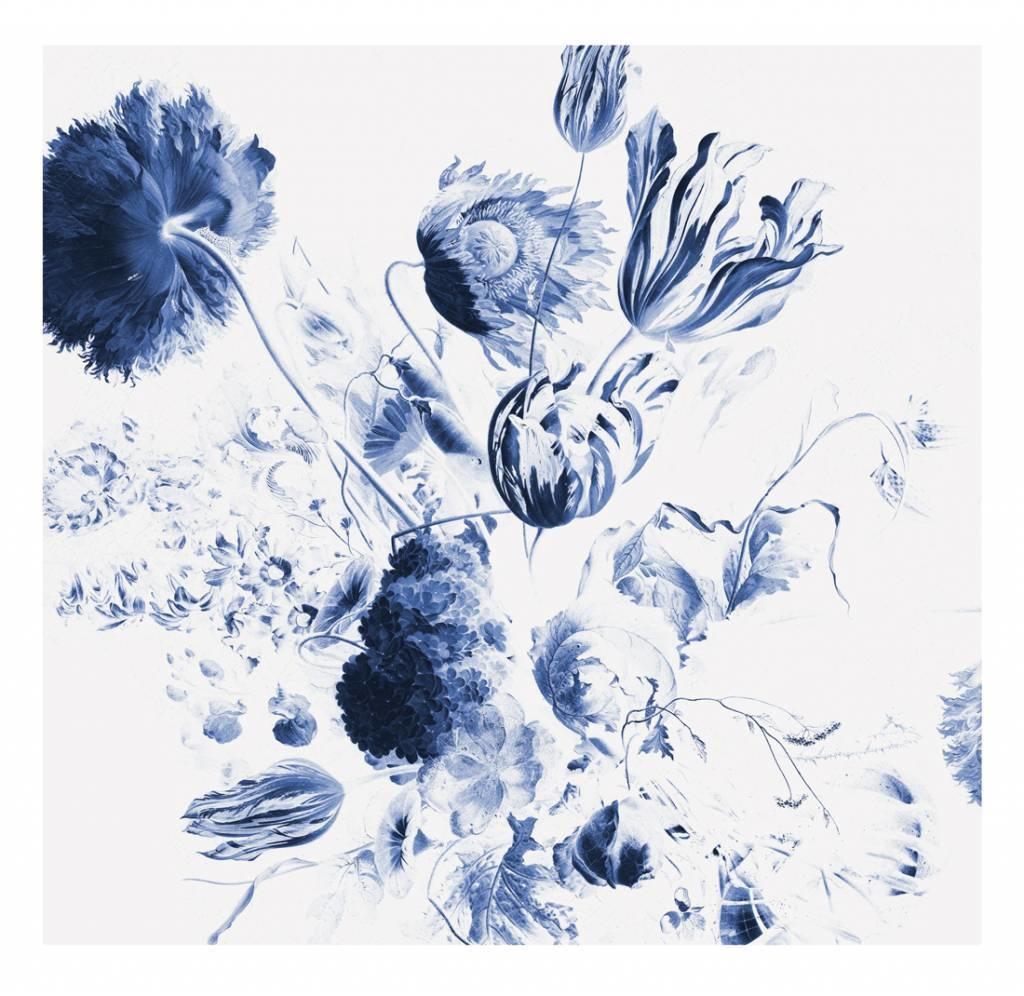 Behang Royal Blue Flowers 292.2x280cm-1