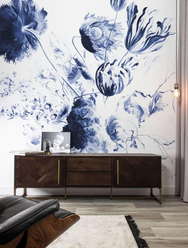 Behang Royal Blue Flowers 292.2x280cm-2