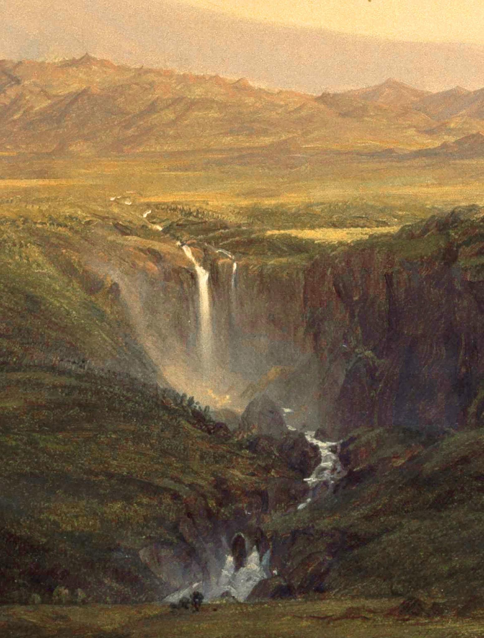 Behang Golden age Landscapes Round Ø190cm-4