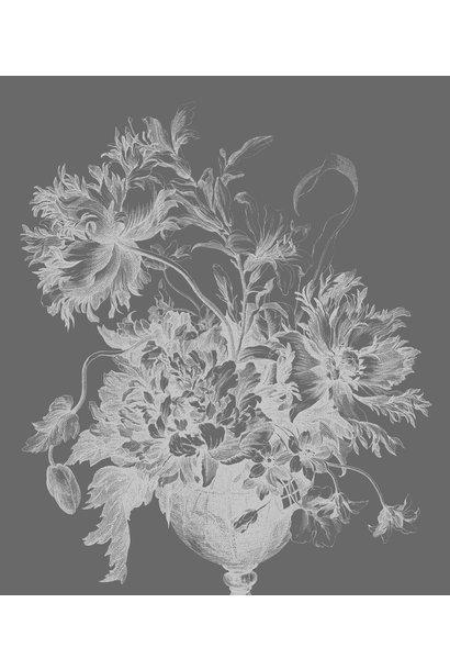 Behang Engraved Flowers XL 190x220cm
