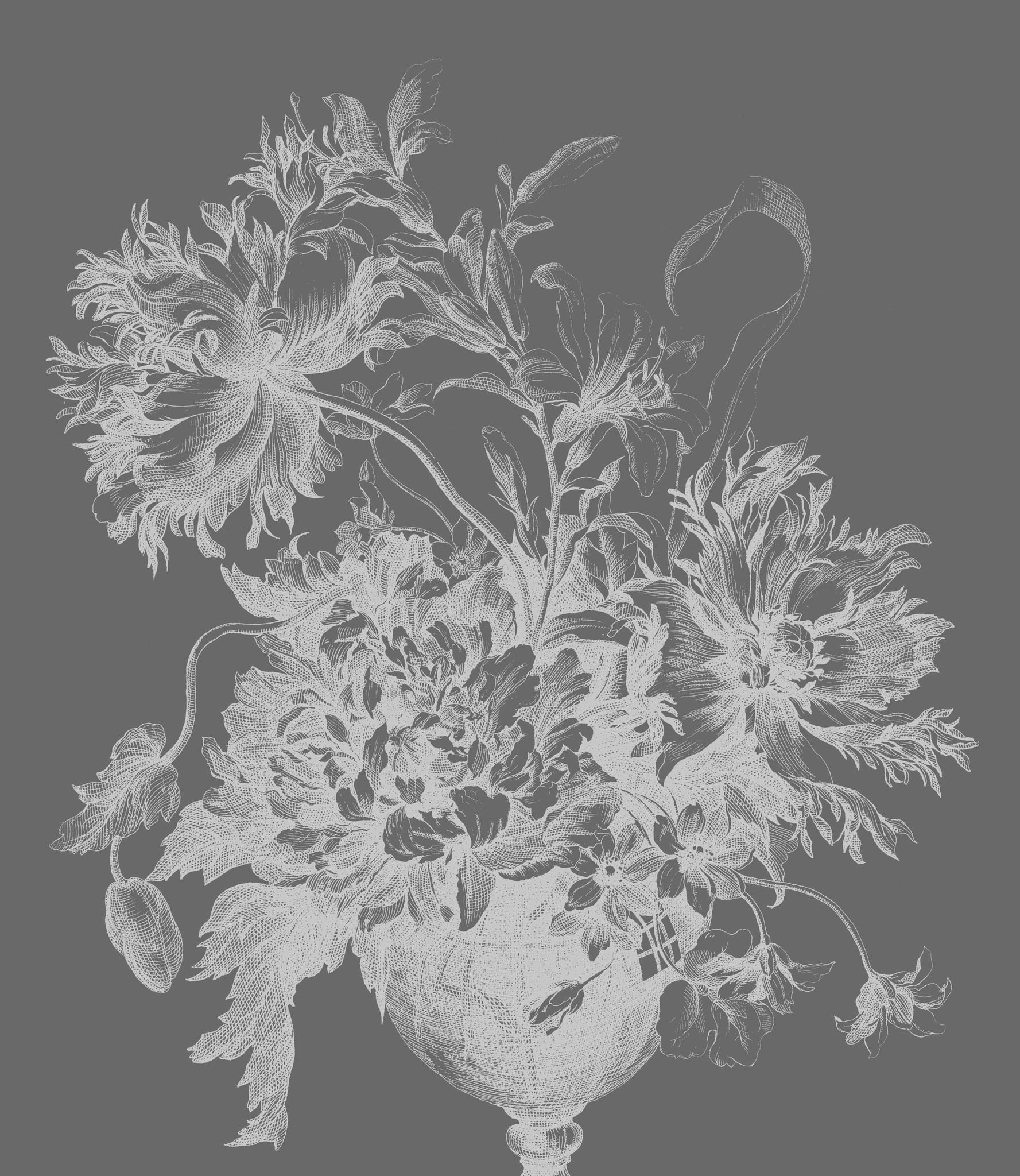 Behang Engraved Flowers XL 190x220cm-1