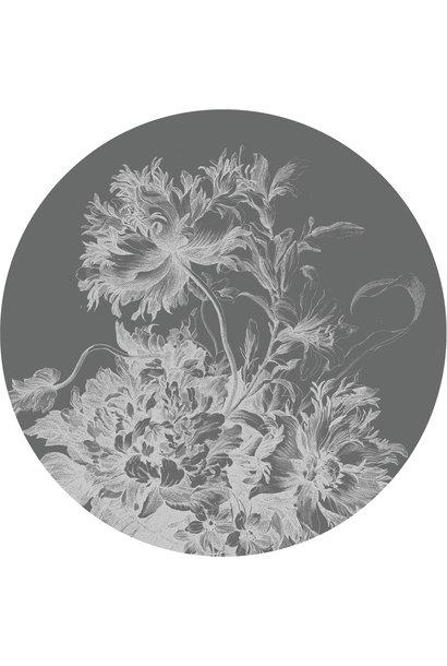 Behang Engraved Flowers XL Round Ø237.5cm