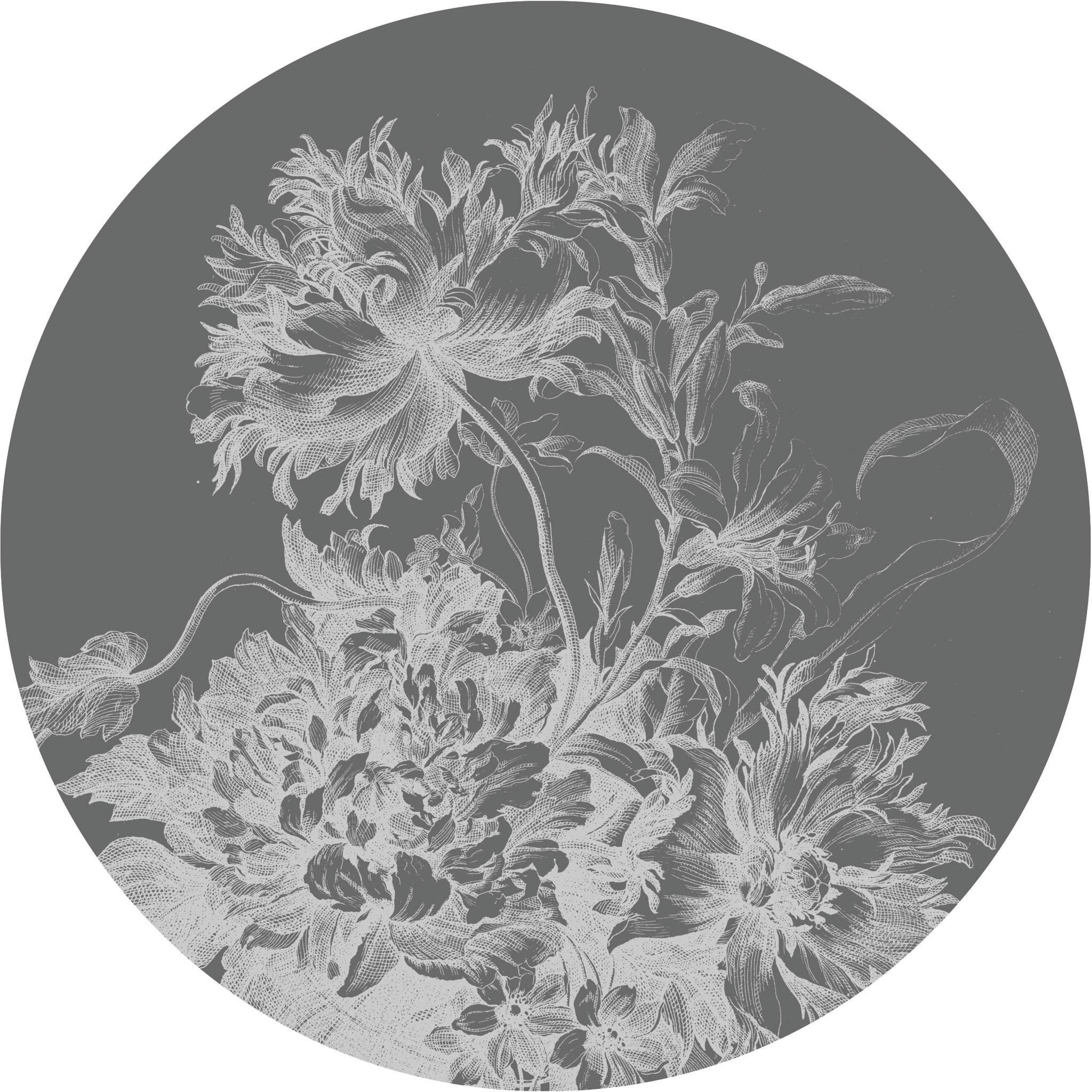Behang Engraved Flowers XL Round Ø237.5cm-1