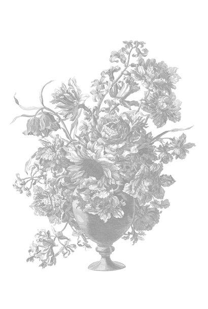 Behang Engraved Flowers 142.5x180cm