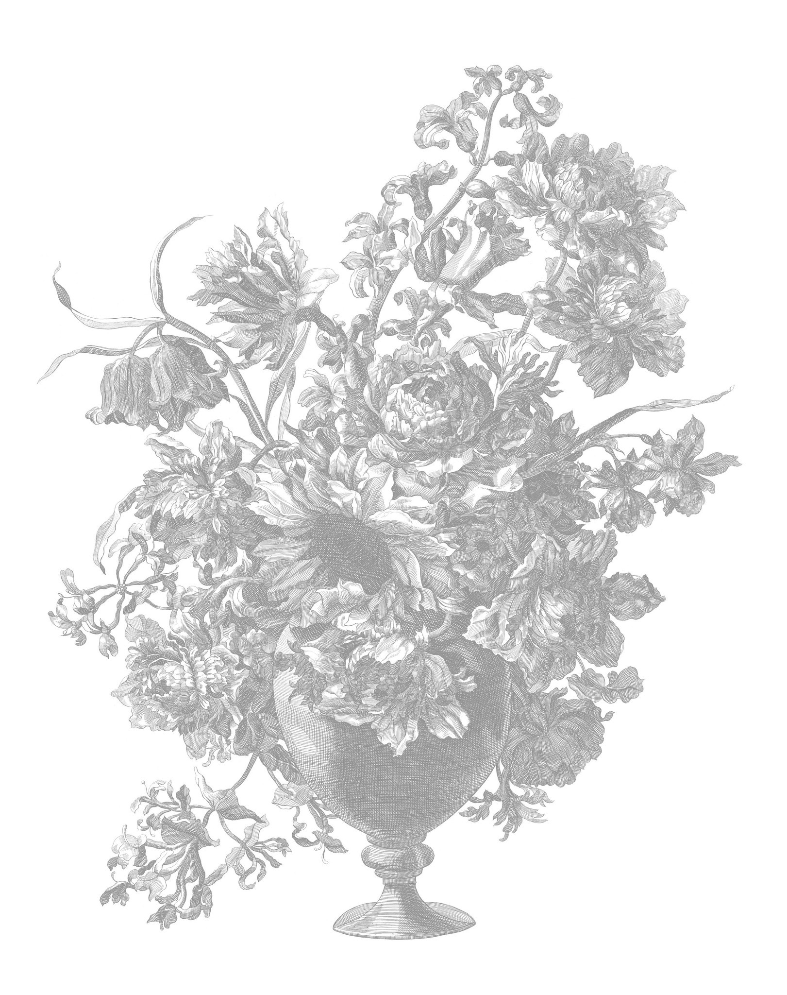 Behang Engraved Flowers 142.5x180cm-1