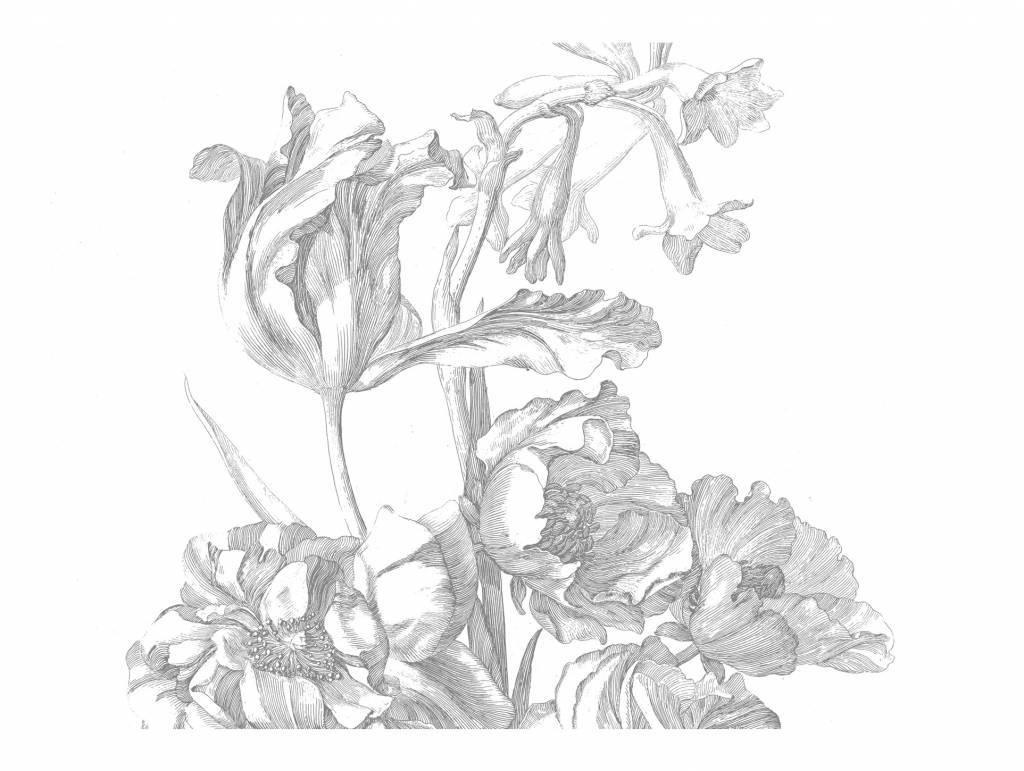Behang Engraved Flowers 389.6x280cm-1