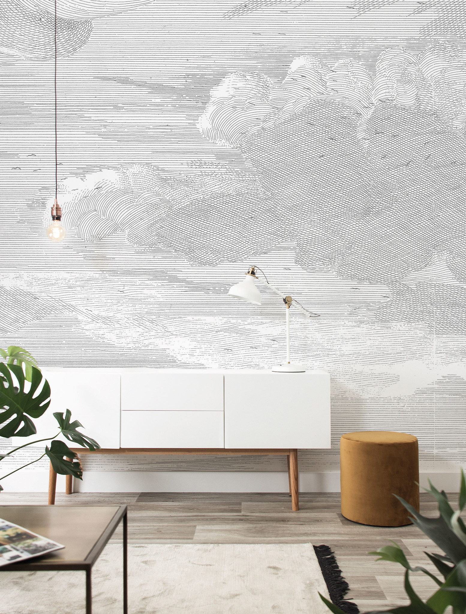 Behang Engraved Clouds 389.6x280cm-2