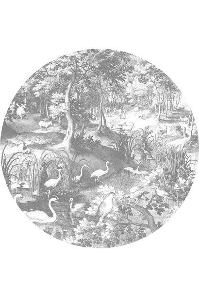 Behang Engraved Landscapes Round Ø190cm