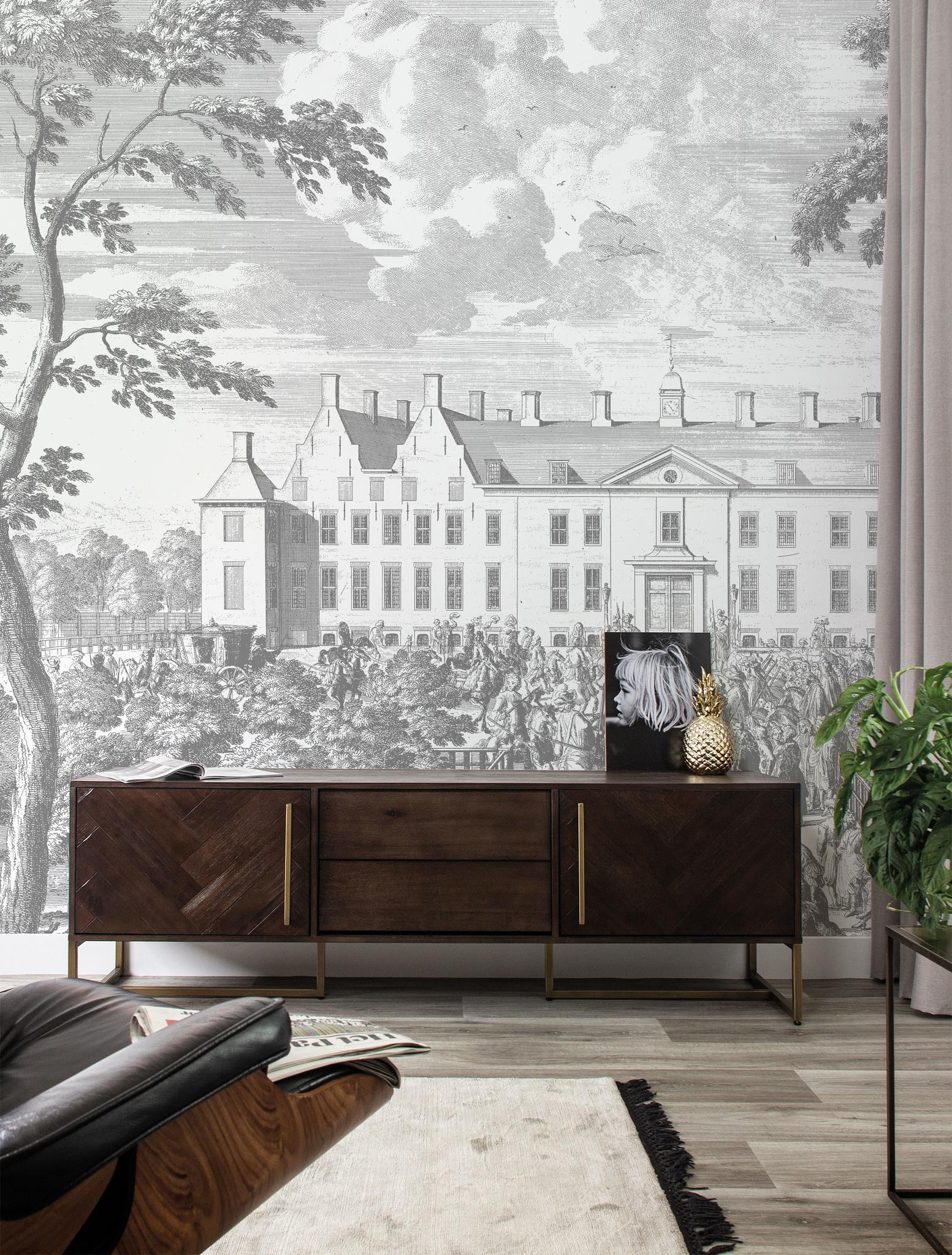 Behang Engraved Landscapes 292.2x280cm-2