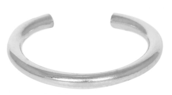 Oorring PER STUK Tiny Hoop 12mm Sterling Silver-3