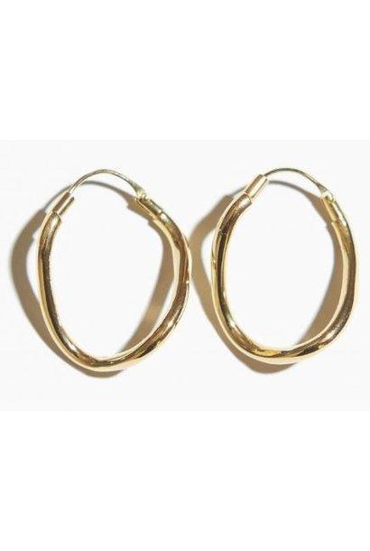 Oorbellen PER PAAR Twisted Hoop Gold Plated