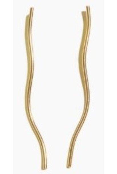 Oorbellen PER PAAR Organic Line Gold Plated