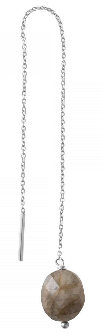 Oorbel PER STUK Elegant Labradorite Sterling Silver-1