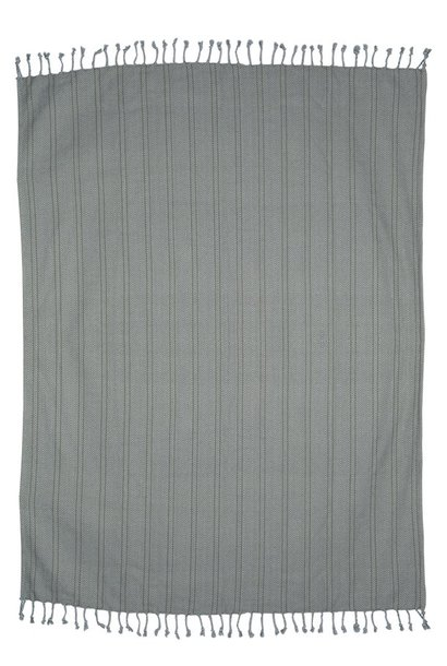Woondeken brushed cotton throw 130x170cm Grey Purple