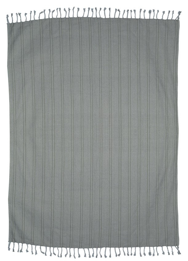 Woondeken brushed cotton throw 130x170cm Grey Purple-1