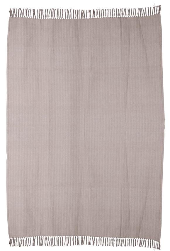 Woondeken cotton zigzag throw 130x170cm Taupe-1
