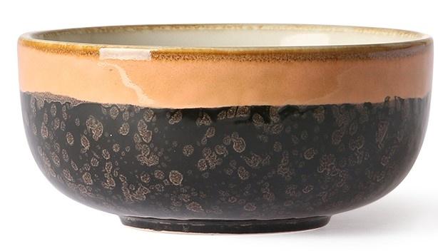 Schaal Ceramic 70's Lava 11x5cm Black Peach-1