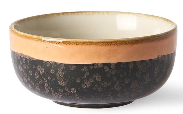 Schaal Ceramic 70's Lava 11x5cm Black Peach-3