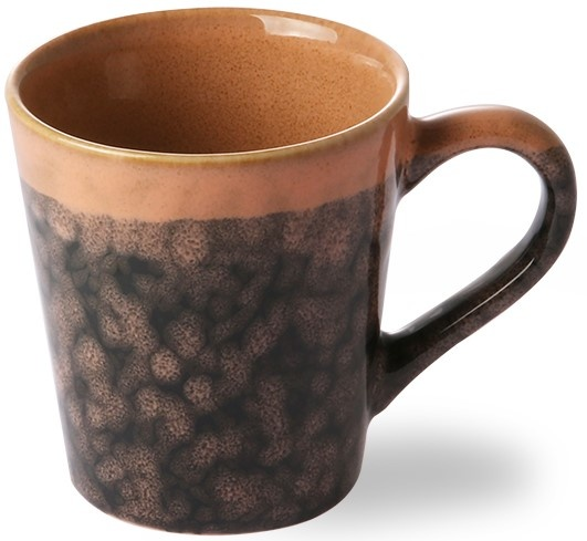 Mok ceramic 70's espresso lava 6x8cm Black-4