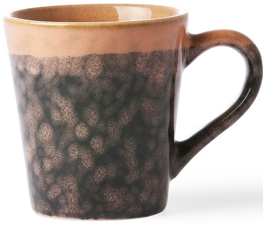 Mok ceramic 70's espresso lava 6x8cm Black-1