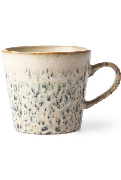 Mok ceramic 70's cappuccino hail 12x9cm Green