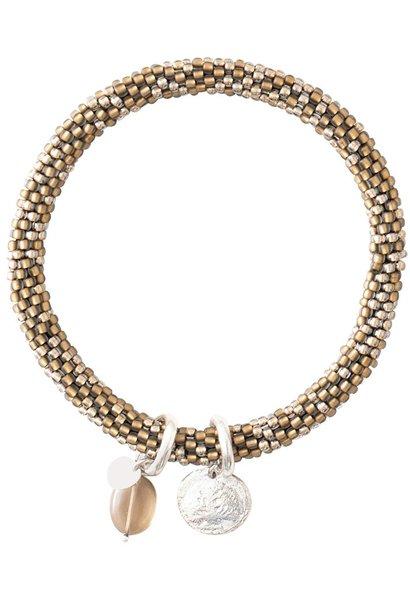 Armband Jacky quartz Multi Color Gold