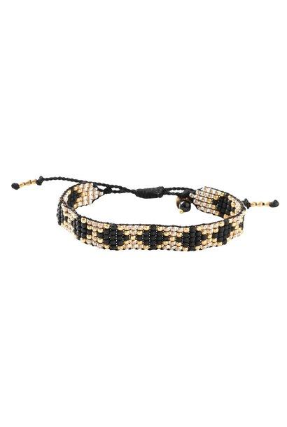 Armband Breezy onyx Gold Black