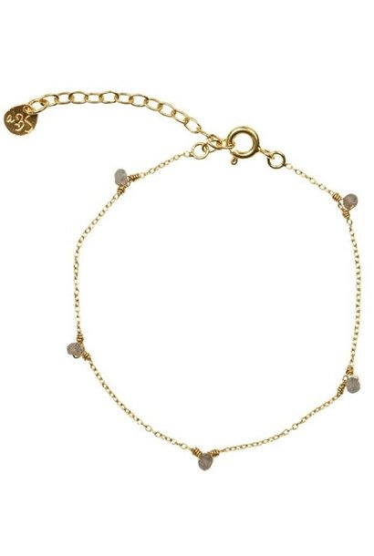 Armband Mini Labradoriet sterling Gold