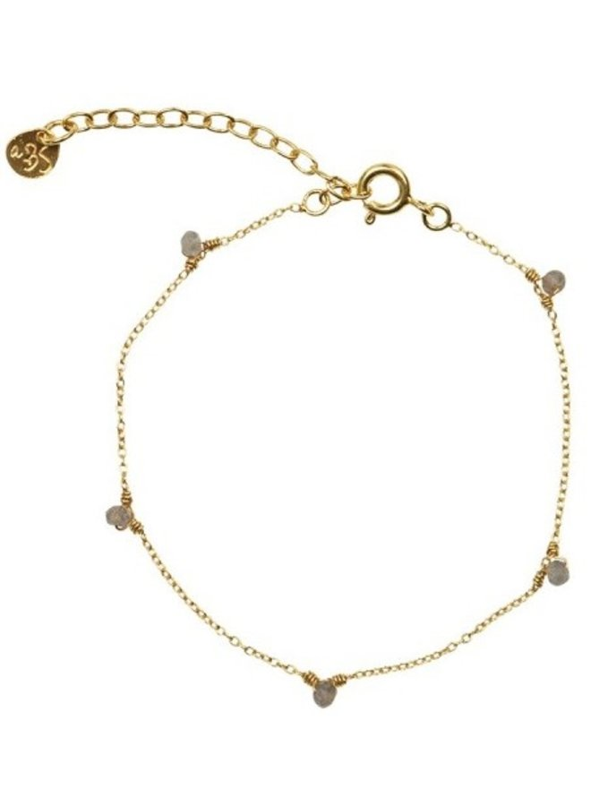 Armband Mini Labradoriet sterling Gold